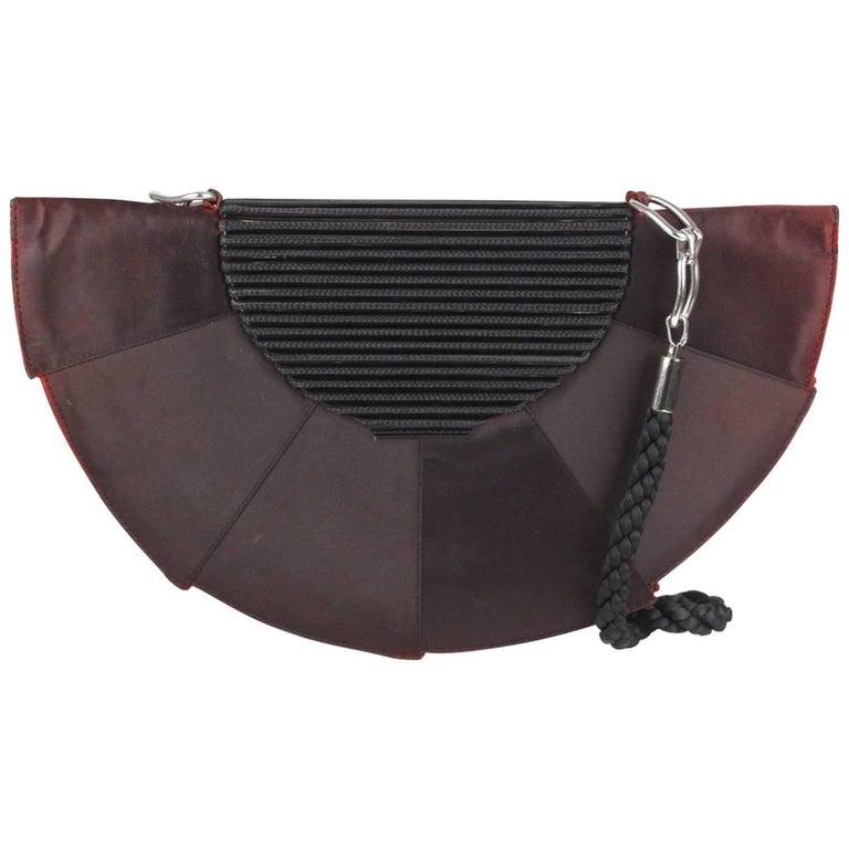 Gianni Versace Vintage Half Moon Clutch Shoulder Bag or Purse