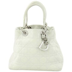 Christian Dior Lady Dior Soft Tote Cannage Quilt Lambskin Medium