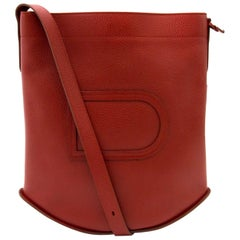 Delvaux Red Le Pin Shoulder Bag
