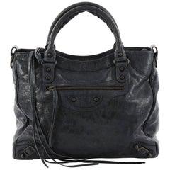Balenciaga Velo Classic Studs Handbag Leather Medium