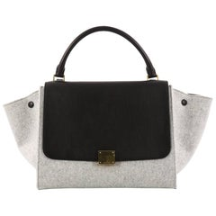 Celine Trapeze Handbag Leather and Felt Medium