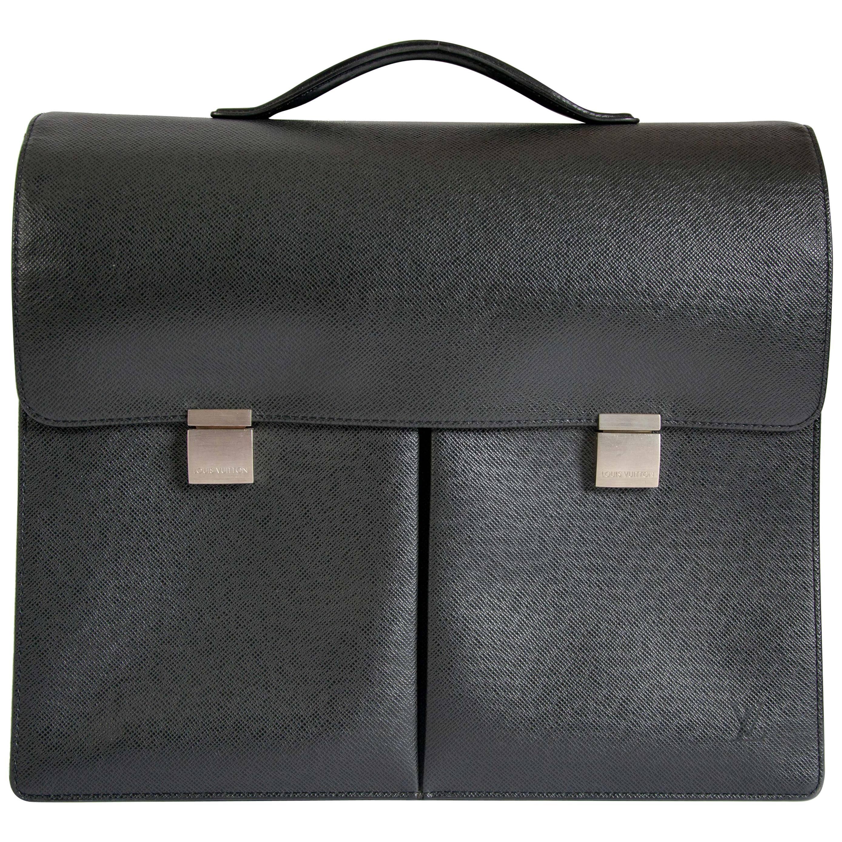 a8d181a71bb1 Louis Vuitton Taiga Khazan Briefcase For Sale at 1stdibs