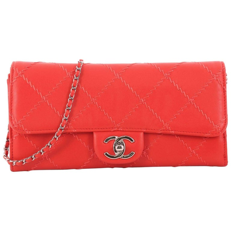 39b9e548cd5e Chanel Ultimate Stitch Wallet on Chain Quilted Lambskin East West For Sale