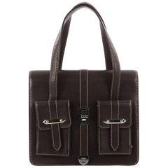 Chanel Vintage Mademoiselle Lock Pocket Flap Bag Caviar Small