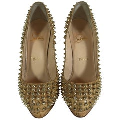 Christian Louboutin Glazed Cork 'Alti' Spike Pump