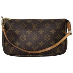 Louis Vuitton Monogram Pochette Accessories Wristlet Handbag