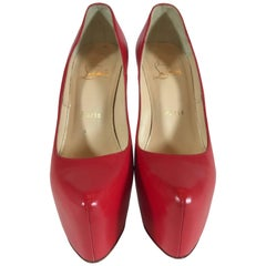 Christian Louboutin Daffodil Red Leather Pump