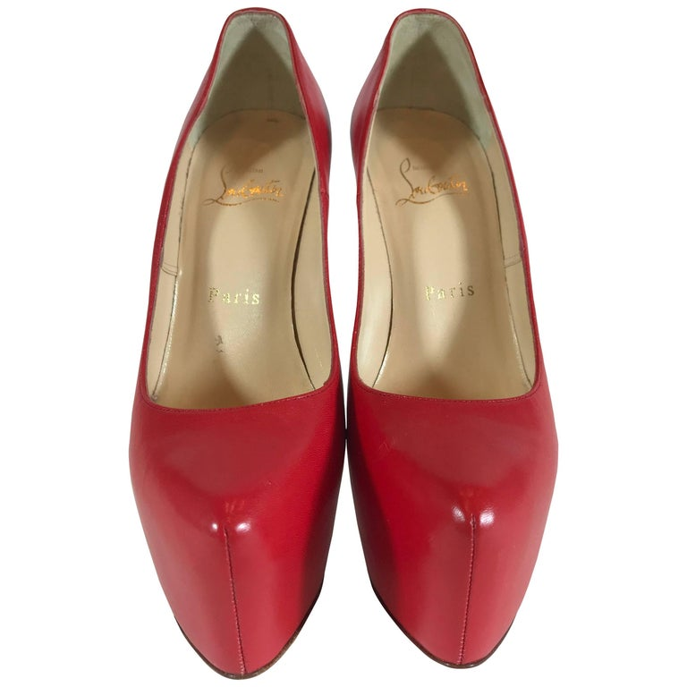 release date: 947fb 38310 Christian Louboutin Daffodil Red Leather Pump
