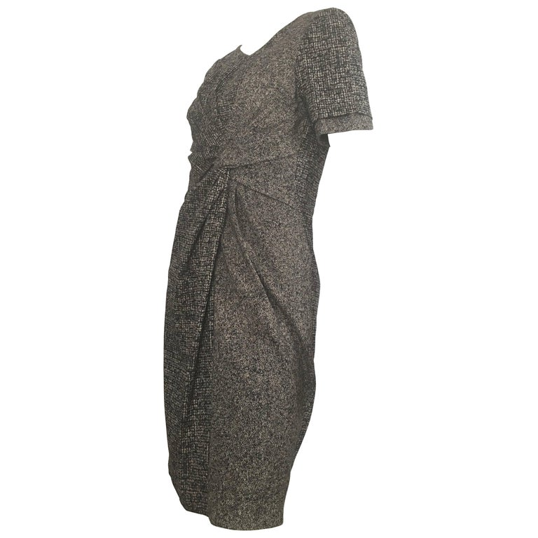 Paule Ka Cotton Black & Grey Casual Dress Size 10 / 12. For Sale