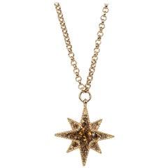 Roberto Cavalli Gold Star Swarovski Crystal Pendant Necklace