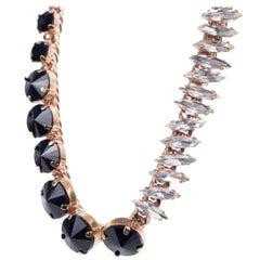 Roberto Cavalli Womens Gold Cuban Link Duo Stone Choker Necklace