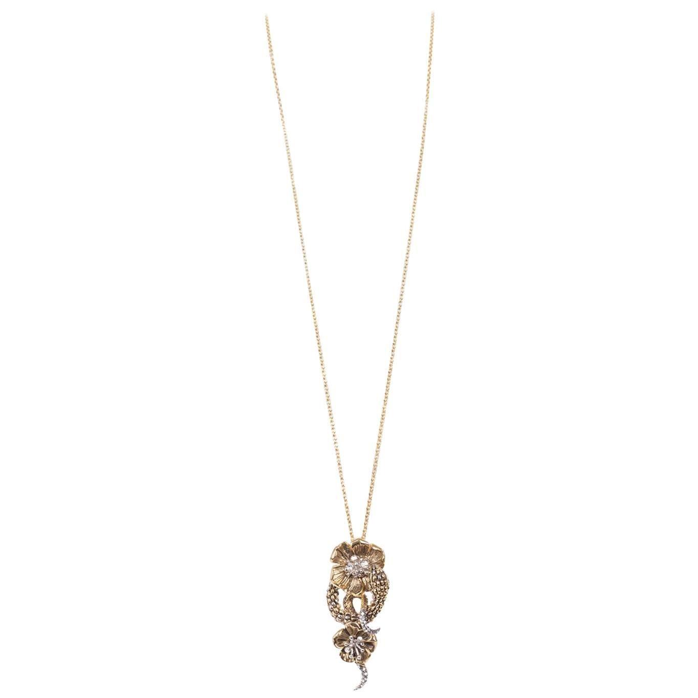 1stdibs Roberto Cavalli Silver Metal Serpent Pendant Chain Necklace YfHWU6pO
