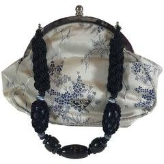 Prada Floral Satin Evening Bag