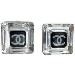 Chanel Square Logo Post Earrings, 2005