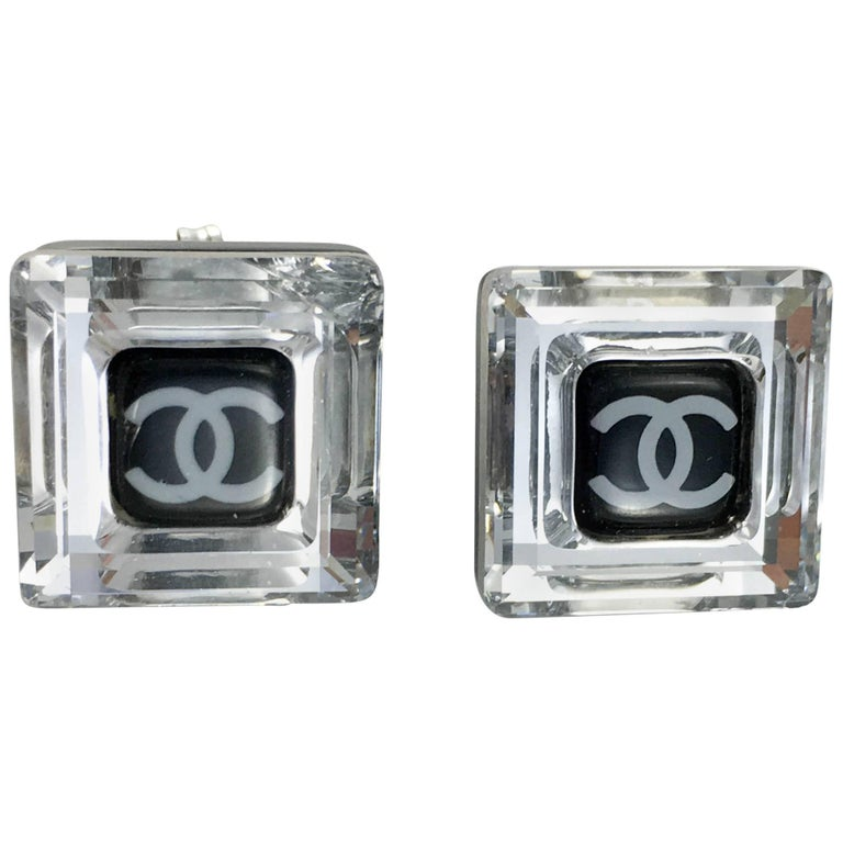 Chanel Square Logo Post Earrings, 2005   For Sale