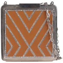 Valentino Garavani Haute Couture Tan Enamel Evening Bag, 2001