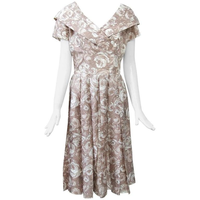 3f31c8388b0 Suzy Perette Silk Print Dress For Sale at 1stdibs