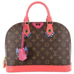 Louis Vuitton Alma Handbag Limited Edition Totem Monogram Canvas PM