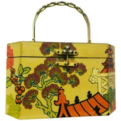 Annie Laurie Originals Palm Beach Chinese Motif Box Bag, 1960s