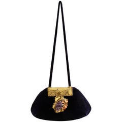 Rare Copa Collection Evening Bag with Amethyst by Carvalhu Rio Ernandes