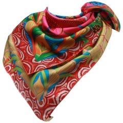 HERMES La Marche du Zambeze Silk Scarf