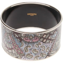 Hermes Extra Large printed enamel bracelet