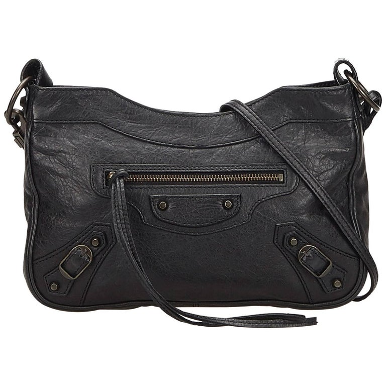 Balenciaga Black Classic Hip Crossbody Bag