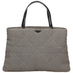 Dior	Black x White Cannage Houndstooth Handbag