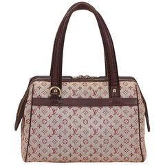 Louis VuittonRed x Bordeaux x Brown Mini Lin Josephine GM