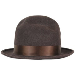 Christian Dior Brown Wool Felt Bowler Hat, c. 2000's, US Hat Size 8
