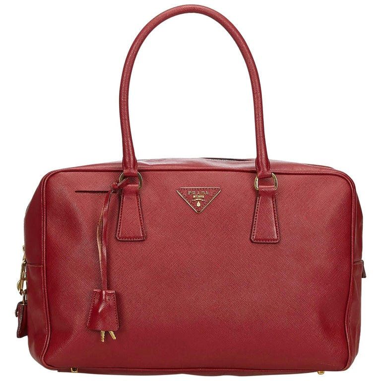Prada Red Leather Handbag