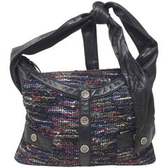 Chanel Multicolor Tweed and Black Lambskin Girl Bag, 2016