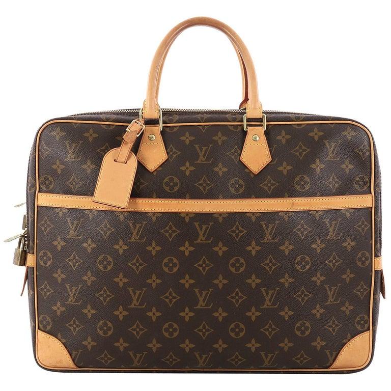85f7d14bd6fbe Louis Vuitton Porte-Documents Voyage Soft Compartment Briefcase Monogram  Canvas For Sale