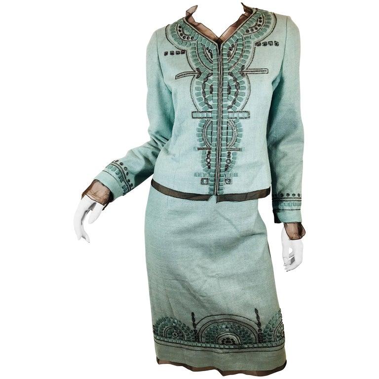 Carolina Herrera 2 Piece Skirt Suit