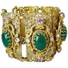 Vintage Czech Filigree Bracelet