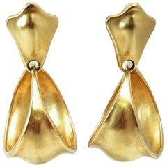 Vintage 1980s Robert Lee Morris Large Hoop Dangling Earrings