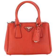 Prada Galleria Double Zip Tote Saffiano Leather Mini