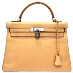 Hermes Naturelle Sable Natural Leather Sac Kelly 32 Bag, 2005