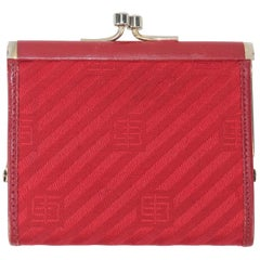 Vintage Pucci Red Striped Change Purse