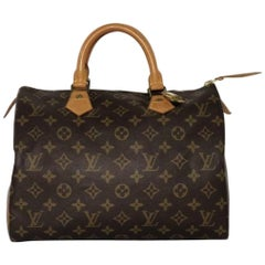 Louis Vuitton Monogram Speedy 30 Satchel Handbag