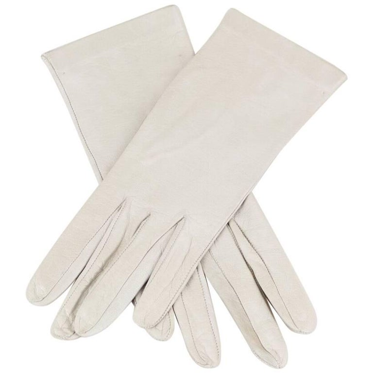 Off-White Supple Vintage Nappa Leather Gloves