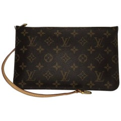 Louis Vuitton Monogram Neverfull MM/GM Pouch ONLY with Fuschia Interior Wristlet