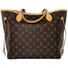 Louis Vuitton Monogram Neverfull MM with Fuschia Interior Tote Handbag
