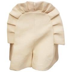 Dramatic Delpozo Ivory  Pleated Ruffle Shorts
