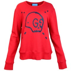 Gucci Men's Red GucciGhost Sweatshirt Sz L