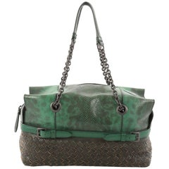 Bottega Veneta Chain Strap Shoulder Bag Lizard Medium