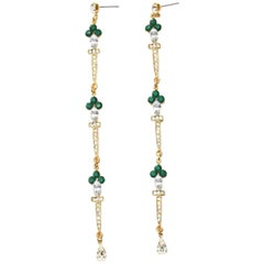 Green Sword Earrings