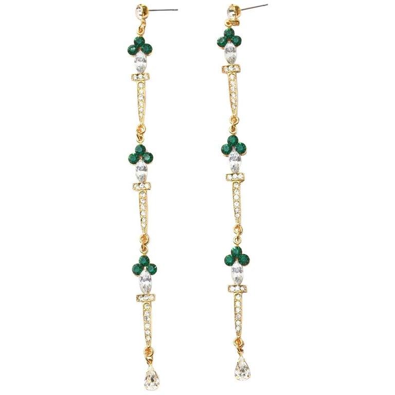 Green Sword Earrings For Sale