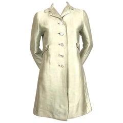1960's EISA BALENCIAGA mint A-line haute couture coat