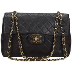 Chanel Black Classic Maxi Lambskin Flap Bag